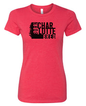 Load image into Gallery viewer, red Charlotte born and bred women's t-shirt