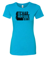 Load image into Gallery viewer, turquoise Charlotte born and bred women's t-shirt
