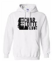 Load image into Gallery viewer, white Charlotte born and bred hoodie