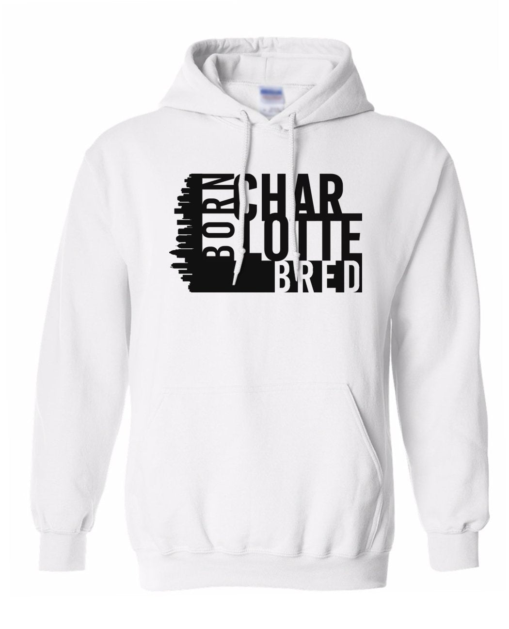 white Charlotte born and bred hoodie