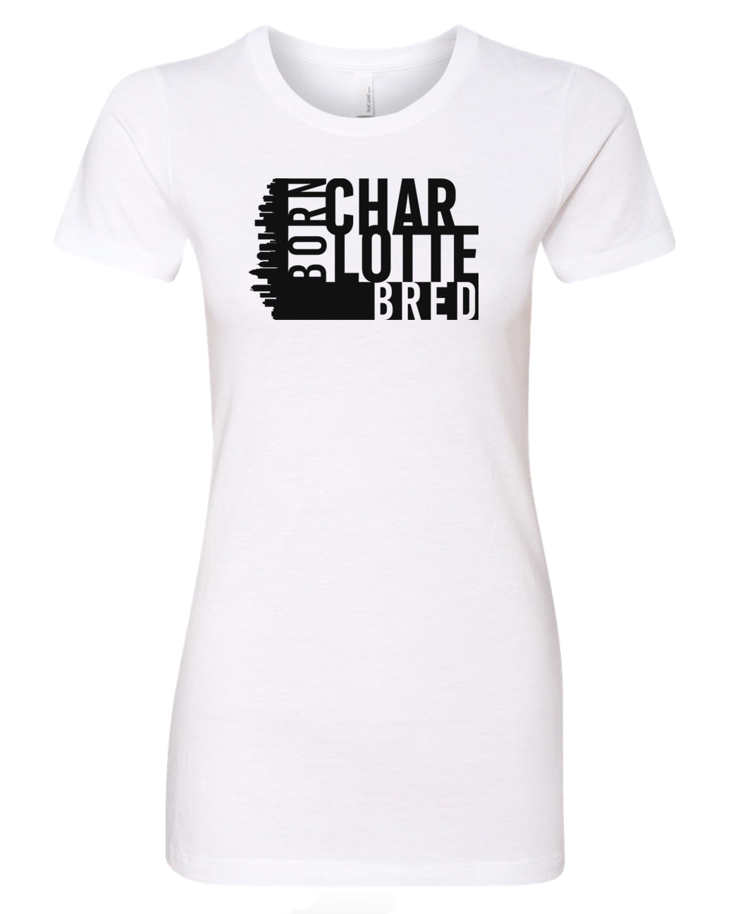 white Charlotte born and bred women's t-shirt