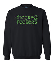Load image into Gallery viewer, black cheers fookers St Pattys Day Sweatshirt