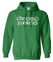 Load image into Gallery viewer, green cheers St Pattys Day hoodie