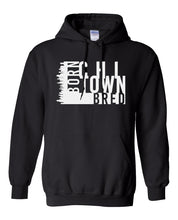 Load image into Gallery viewer, black chi-town Chicago born and bred hoodie