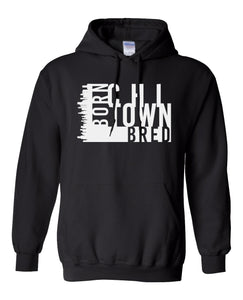black chi-town Chicago born and bred hoodie