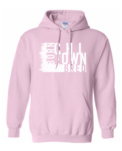 pink chi-town Chicago born and bred hoodie