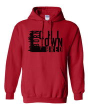 Load image into Gallery viewer, red chi-town Chicago born and bred hoodie
