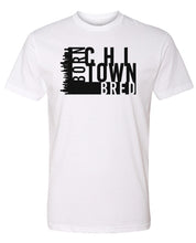 Load image into Gallery viewer, white Chicago born and bred t-shirt