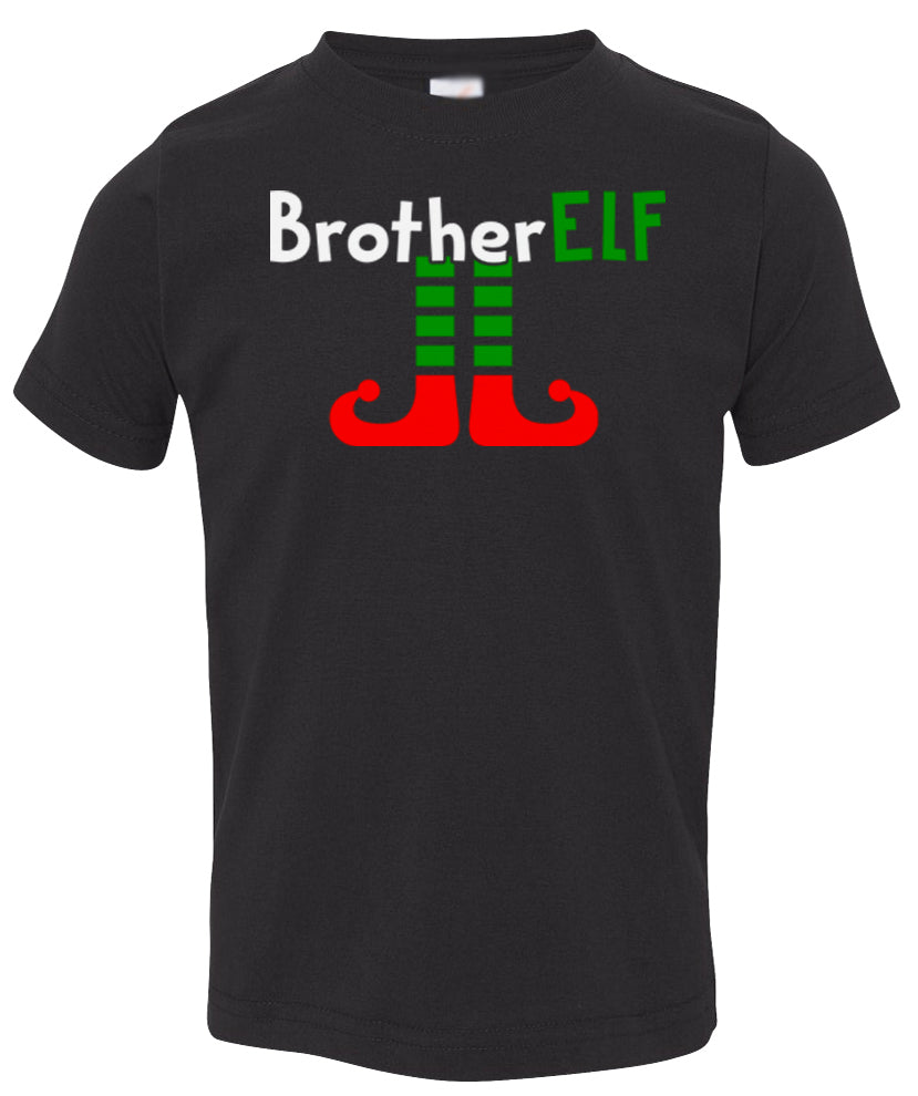 black brother elf toddler christmas t shirt