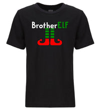 Load image into Gallery viewer, black brother elf youth kids Christmas t shirt