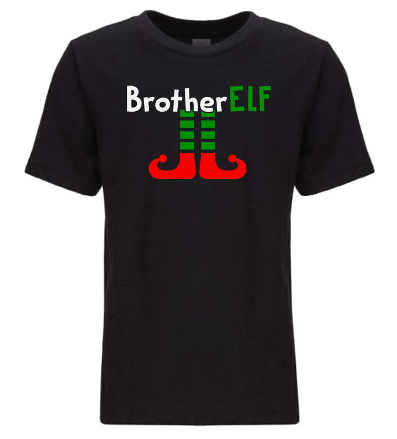 black brother elf youth kids Christmas t shirt