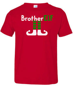 red brother elf toddler christmas t shirt