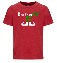 Load image into Gallery viewer, red brother elf youth kids Christmas t shirt