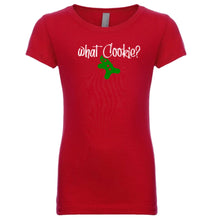 Load image into Gallery viewer, red what cookie youth girl Christmas T Shirt
