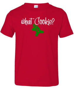 red cookie toddler christmas t shirt