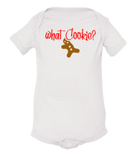Load image into Gallery viewer, white what cookie baby Christmas onesie