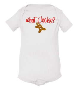 white what cookie baby Christmas onesie