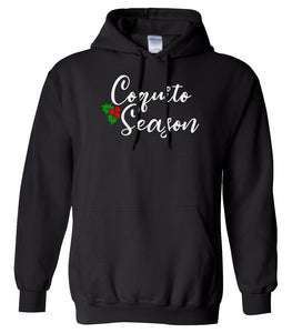 black coquito season Christmas hooded sweatshirt