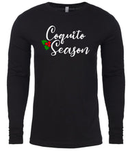 Load image into Gallery viewer, black coquito season Christmas shirt for Men