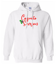 Load image into Gallery viewer, white coquito season Christmas hooded sweatshirt