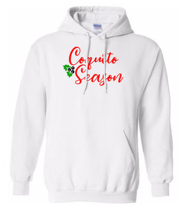 white coquito season Christmas hooded sweatshirt
