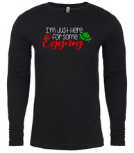 Load image into Gallery viewer, black eggnog Christmas shirt for Men