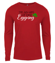 Load image into Gallery viewer, red eggnog Christmas shirt for Men