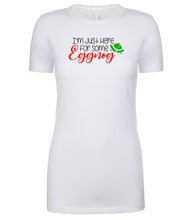 Load image into Gallery viewer, white eggnog Christmas T Shirt for Women