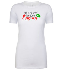 white eggnog Christmas T Shirt for Women