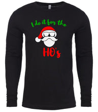Load image into Gallery viewer, black Santa's ho's Christmas shirt for Men