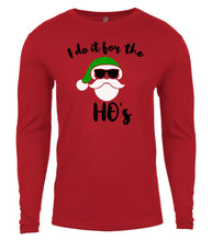 Load image into Gallery viewer, red Santa's ho's Christmas shirt for Men