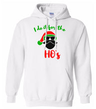 Load image into Gallery viewer, white Santa's ho's Christmas hooded sweatshirt