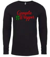 Load image into Gallery viewer, black gangsta wrapper Christmas shirt for Men