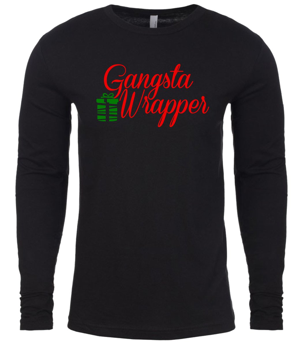 black gangsta wrapper Christmas shirt for Men