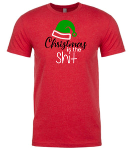 red Christmas is the Shit t shirt for men