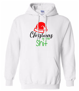 white Christmas is the shit hooded sweatshirt