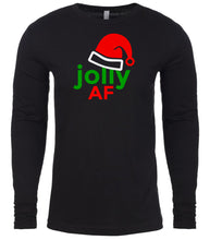 Load image into Gallery viewer, black jolly AF Christmas shirt for Men