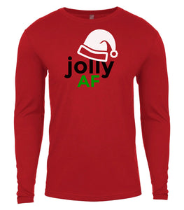 red jolly AF Christmas shirt for Men