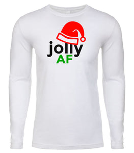 white jolly AF Christmas shirt for Men