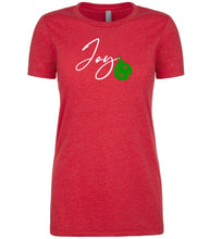 Load image into Gallery viewer, red joy Christmas T Shirt for Women
