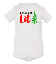 Load image into Gallery viewer, white lit baby Christmas onesie