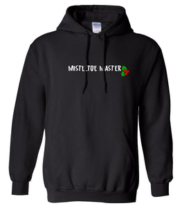 black mistletoe master Christmas hooded sweatshirt