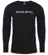 Load image into Gallery viewer, black mistletoe master Christmas shirt for Men