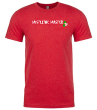 Load image into Gallery viewer, red mistletoe master Christmas t shirt for men