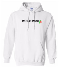 Load image into Gallery viewer, white mistletoe master Christmas hooded sweatshirt