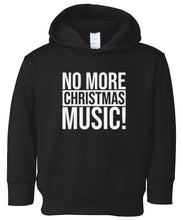Load image into Gallery viewer, black xmas music hooded toddler Christmas sweatshirt