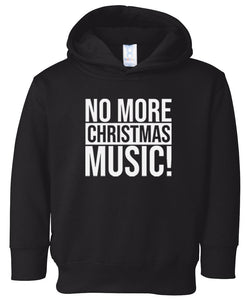 black xmas music hooded toddler Christmas sweatshirt