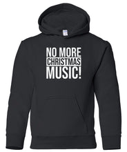 Load image into Gallery viewer, black no xmas music youth kids hooded Christmas sweatshirt hoodie
