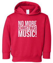Load image into Gallery viewer, red xmas music hooded toddler Christmas sweatshirt