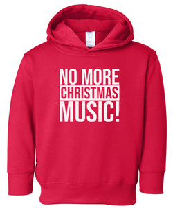 red xmas music hooded toddler Christmas sweatshirt